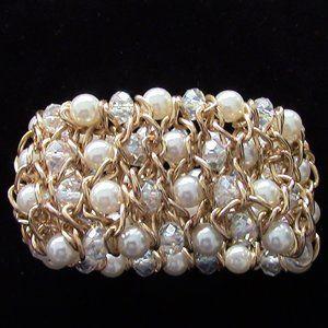 Gold tone mesh bracelet
